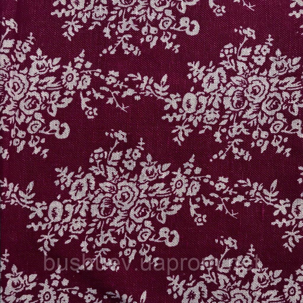Ткань лен принтованный (3898) #11