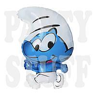 Фольгированный шар Смурфик