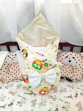 """Конверт для новорожденных """"Совы"""" K1401"""