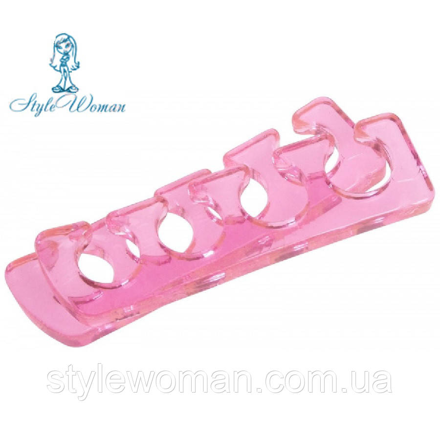 Растопырки для педикюра силиконовые, разделитель для пальцев ног, пара