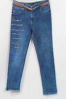 Женские турецкие джинсы с вышивкой, на поясе 48-52р