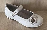 Туфли для девочки белые Фламинго
