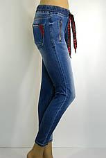 Джинси жіночі з поясом на резинці Sherocco, фото 2