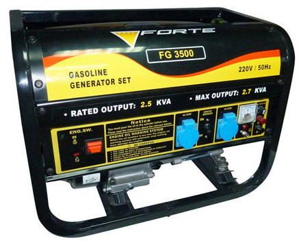 Бензиновый генератор Forte FG3500, фото 2