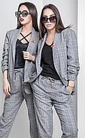 Женский деловой брючный костюм в клетку Florens (разные цвета)