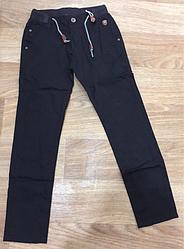 Котоновые брюки для подростков  цвет черный 158 см