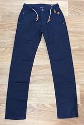 Котоновые брюки для подростков  цвет темно синий 164  см