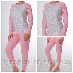 Женская пижама со штанами, василек+карамель