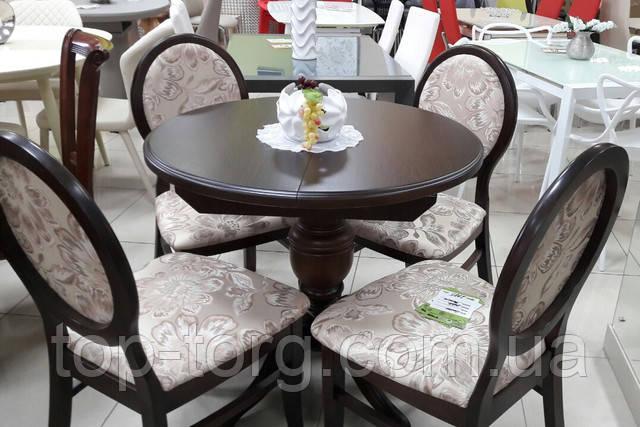 Стол Анжелика орех и стулья Генуя