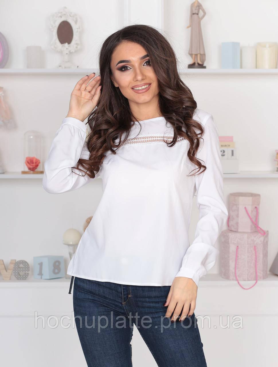 95e7bae4e02 Блузка с кружевными вставками  продажа
