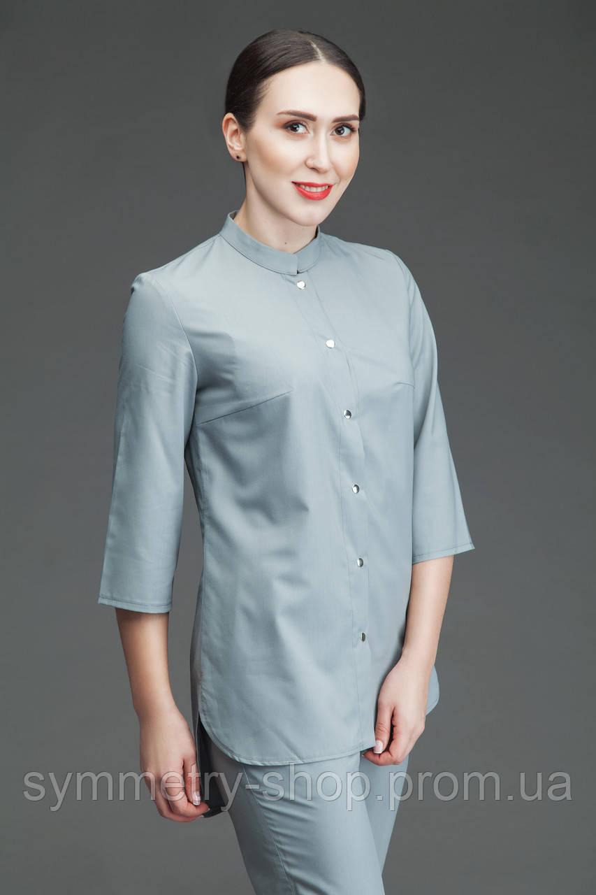 Медицинская блуза Т004, серая