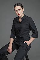 Медицинская блуза Т004, черная, фото 1