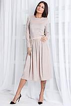 Женское платье миди из люрекса (Морган mrb), фото 3