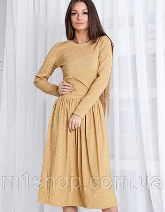 Женское платье миди из люрекса (Морган mrb), фото 2