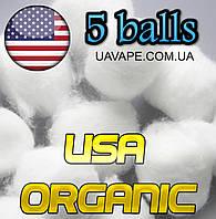 Хлопок для электронных сигарет вата USA Organic