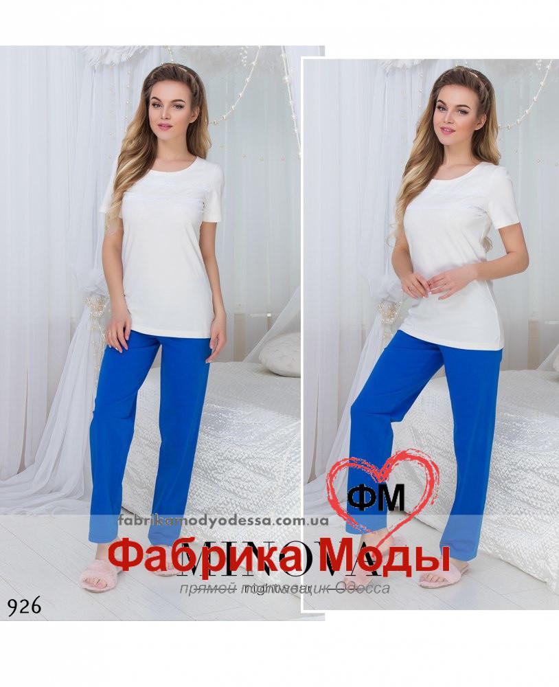 b11035ef223e Женская пижама брюки с футболкой ТМ Минова прямой поставщик Украина Россия  СНГ р.42-48