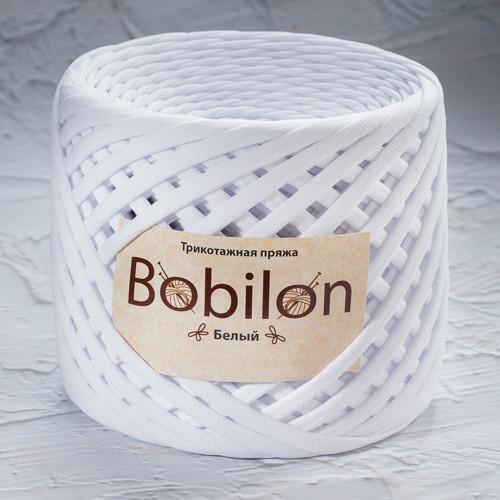 Трикотажная пряжа Bobilon Micro (3-5мм). Белый