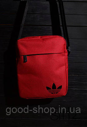 Сумка мессенджер Adidas красного цвета
