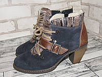 Rieker_зимнее женские ботинки замша 37р ст.23,5см D13