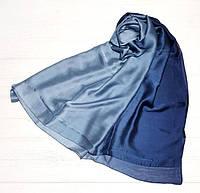 Шарф атласный синий