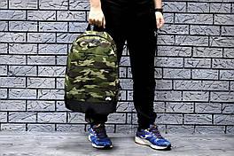 Рюкзак Nike городской мужской с отделением для ноутбука с кожаным дном (камуфляж)
