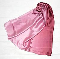 Шарф атласный розовый