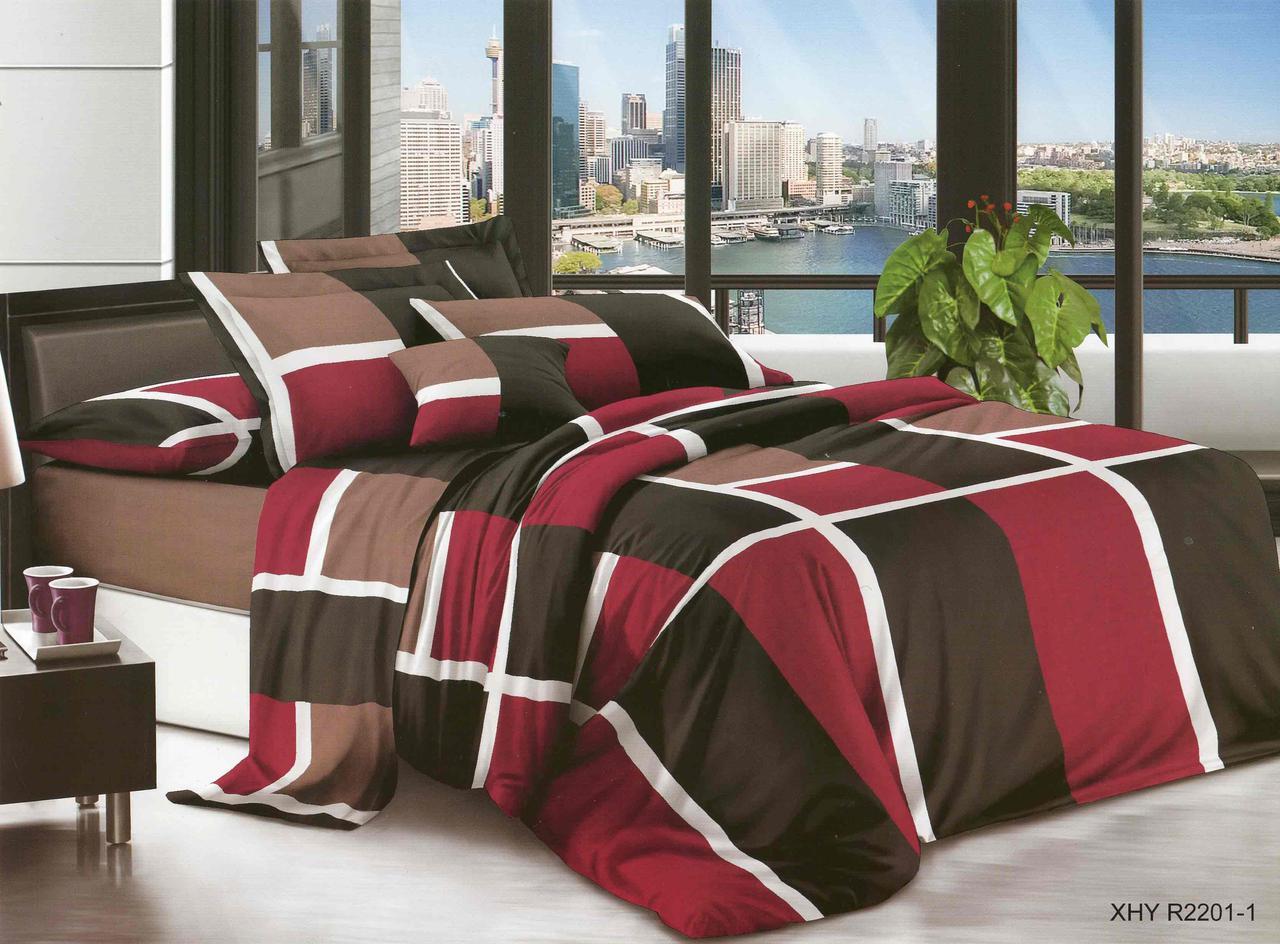 Полуторный набор постельного белья из Ранфорса №371 Черешенка™