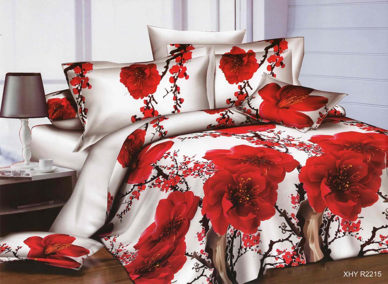 Полуторный набор постельного белья из Ранфорса №372 Черешенка™
