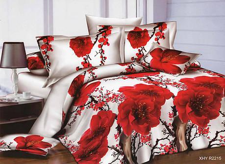 Полуторный набор постельного белья из Ранфорса №372 Черешенка™, фото 2