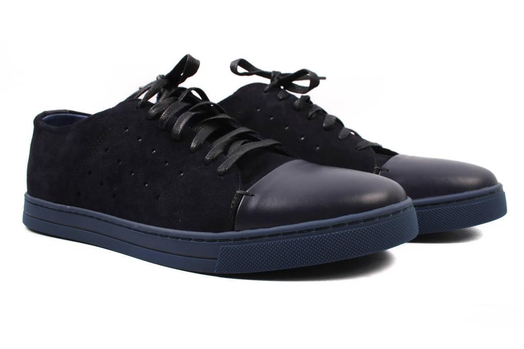 Туфли мужские Vadrus натуральный замш, цвет черный, синий (платформа, весна\осень)