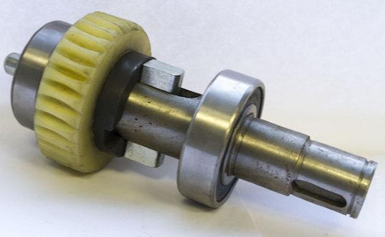 Робочий вал двигуна з шестірнею і підшипниками в зборі DHSL011 Doorhan