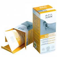Eco cosmetics Солнцезащитный крем SPF 20 с экстрактом граната и облепихи, 75 мл
