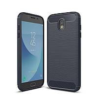 Чехол Carbon для Samsung J7 2017 J730 J730H бампер Blue