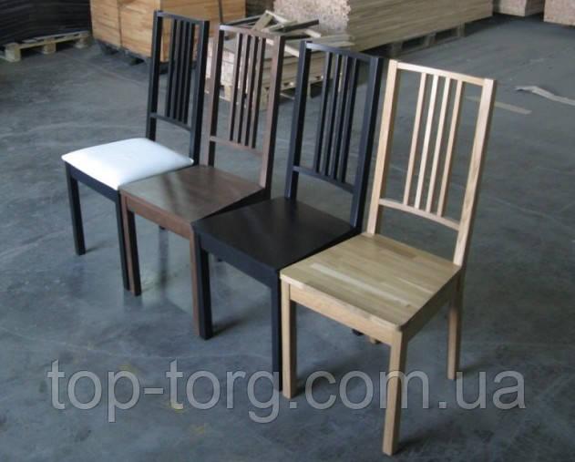 Стільці Бук з твердим сидінням: горіх (коричневий), венге (чорний), бук (прозорий)
