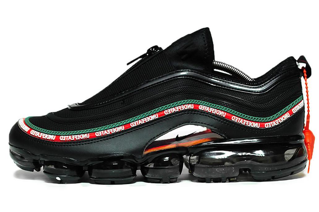 Мужские кроссовки Nike Air VaporMax 97 x Undefeated (Найк Аир Макс) черные