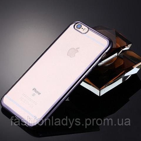 Чехол для iPhone 7 силиконовый (серебристый)
