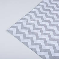Лоскут ткани №26а  с серым зигзагом