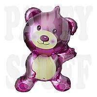 Фольгированный шар Медведь розовый