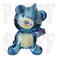 Фольгированный шар Медведь голубой