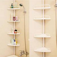 Многоуровневая полка для ванной комнаты угловая