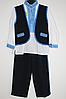 Вишитий костюм для хлопчика: 3-ка  хлопчик синій