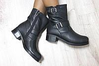 Зимние кожаные ботинки 37