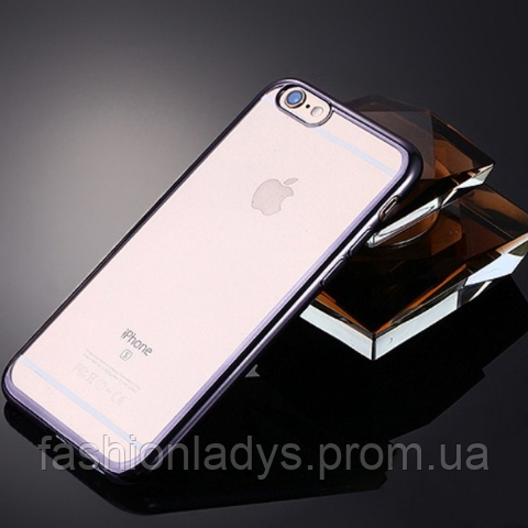 Чехол для iPhone 7 plus силиконовый (серый)