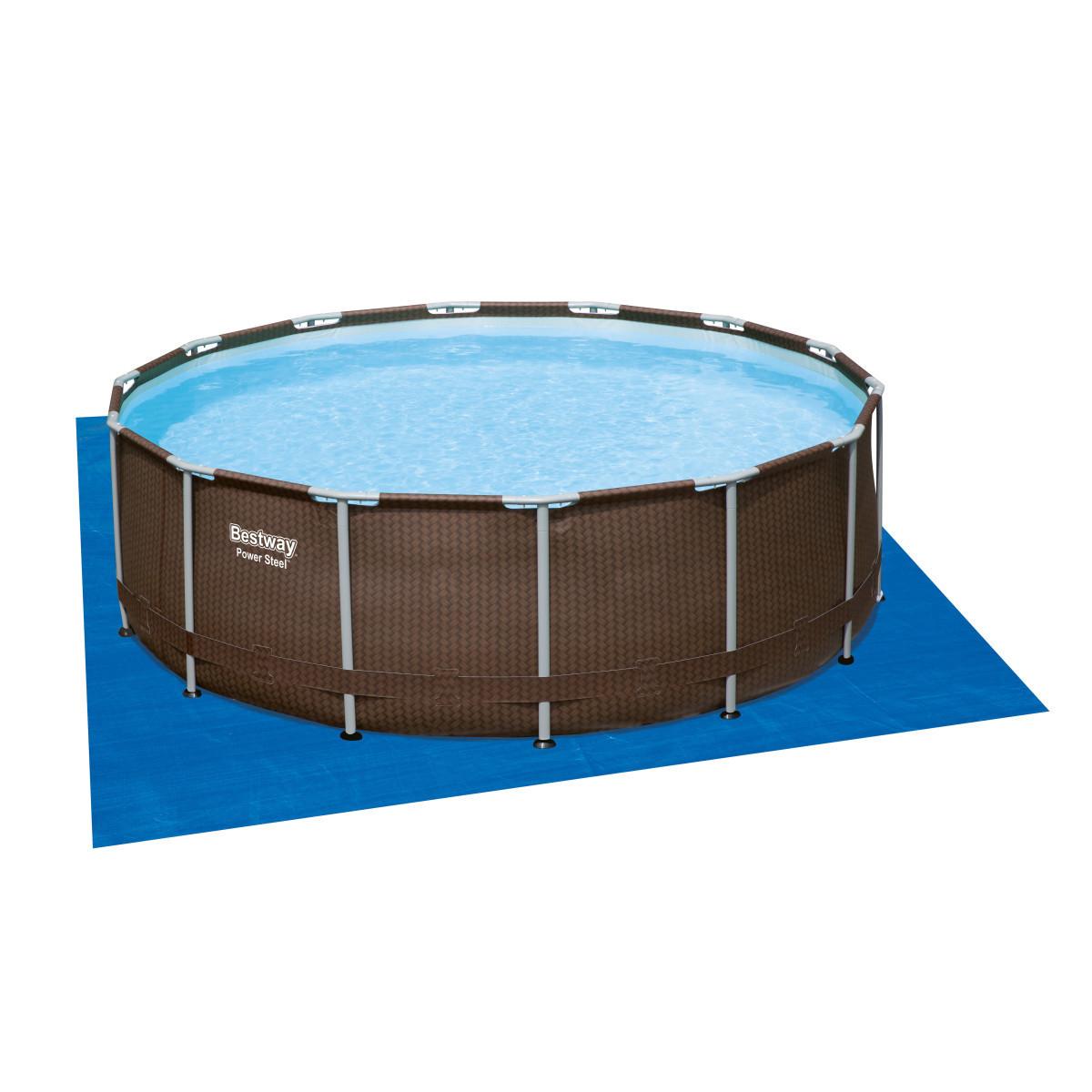 Каркасный круглый бассейн BestWay Ротанг 56664 (427x107 см)