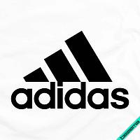 Декор для бизнеса на пончо логотип Adidas [7 размеров в ассортименте] (Тип материала Матовый)