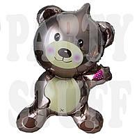 Фольгированный шар Медведь коричневый, 90*55 см