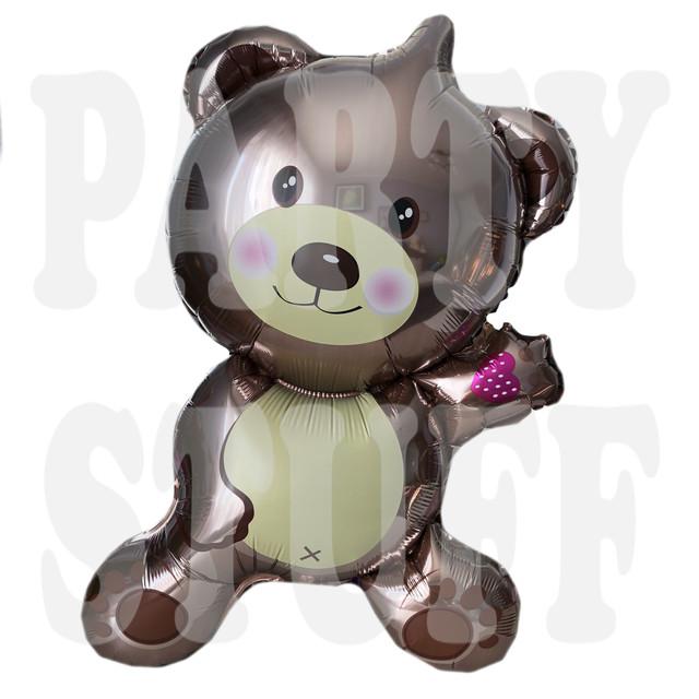 Фольгированный шар Медведь коричневый