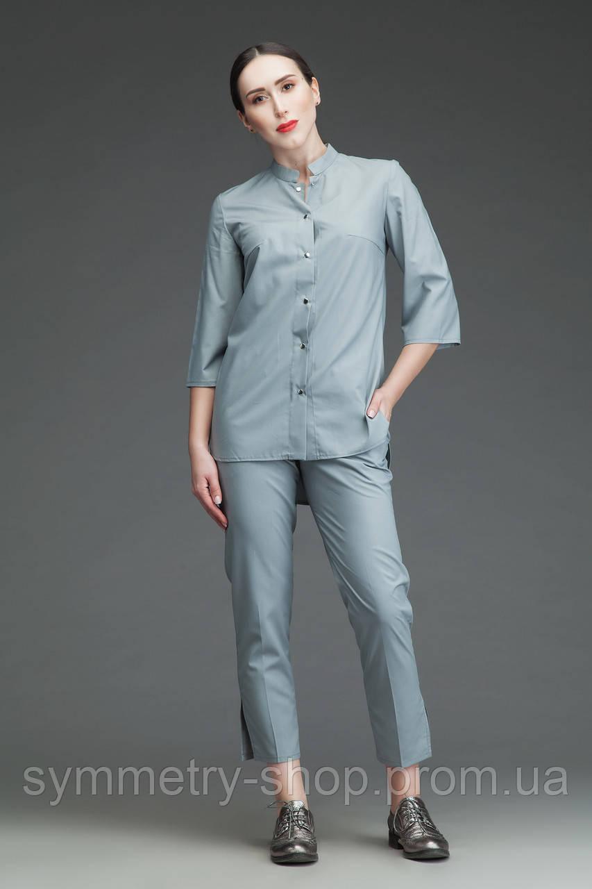 Костюм медицинский 0402 (с укороченными брюками), серый