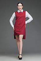 F003 Профессиональный фартук-сарафан, бордо, фото 1