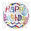 Шарик фольгированный Happy Birthday, 78 см